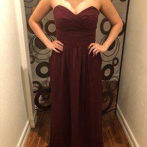 Burgundy Gown.